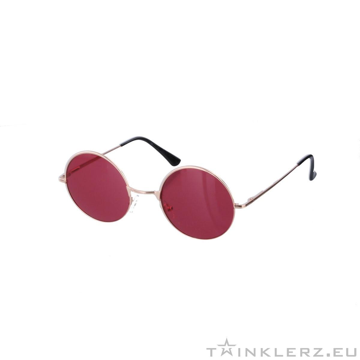 gabberbril goud rood gekleurde glazen