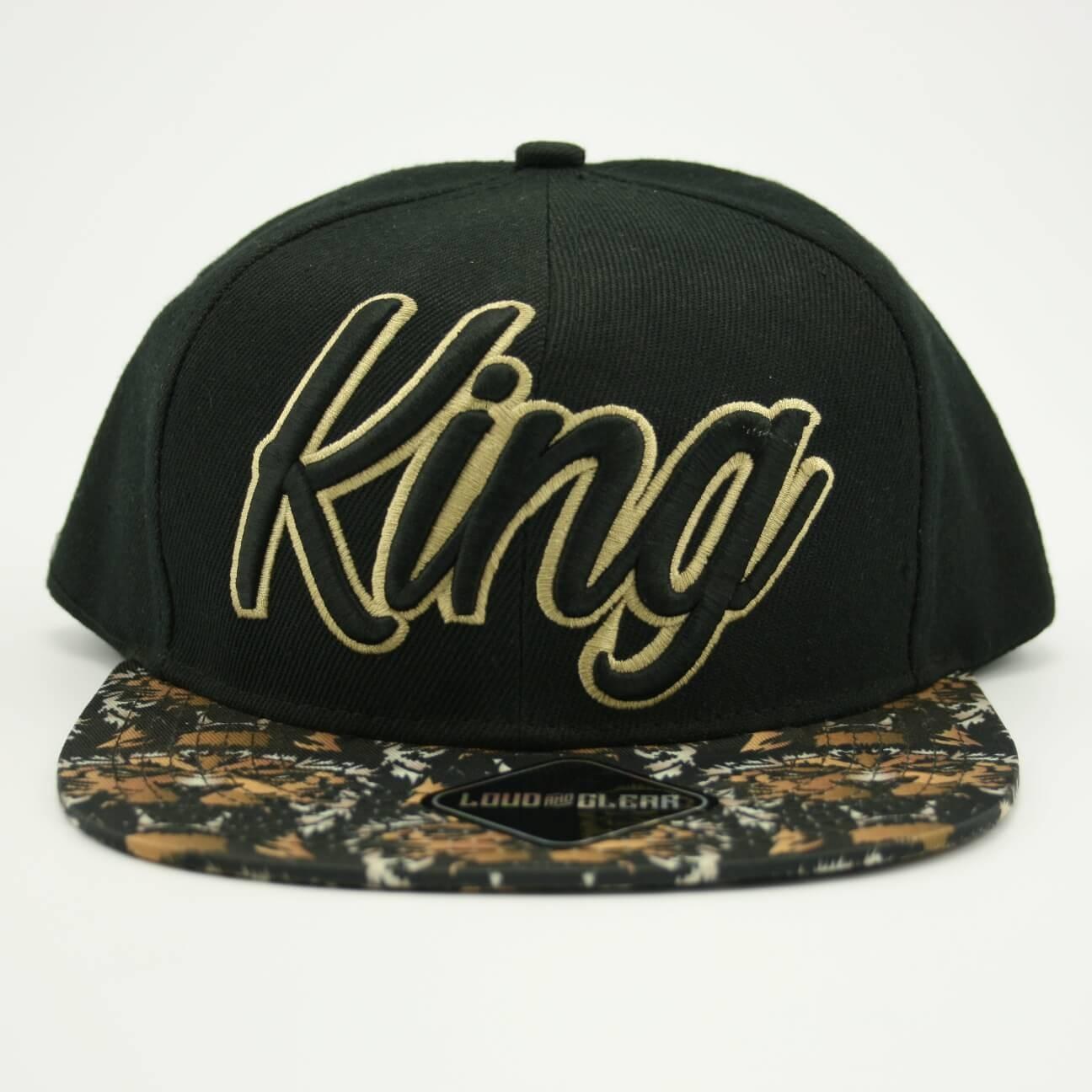 King cap snapback zwart