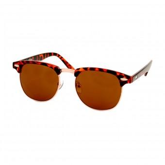 Clubmaster zonnebril bruin - bruine glazen