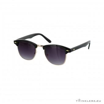 Clubmaster classic zonnebril zwart - getinte glazen