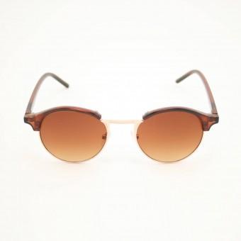Clubround ronde zonnebril transparant bruin - bruin getinte glazen