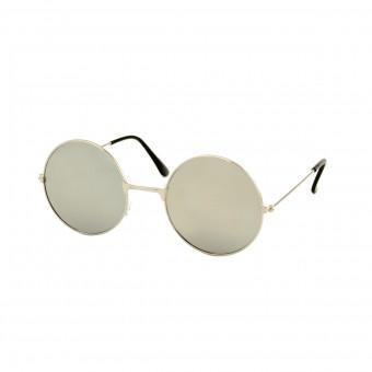 Gabberbril Zilver - Zilveren Spiegelglazen