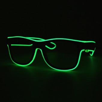 LED bril licht groen doorzichtig glas
