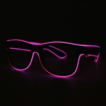 LED bril roze doorzichtig glas