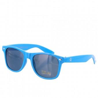 Party festival zonnebril lichtblauw