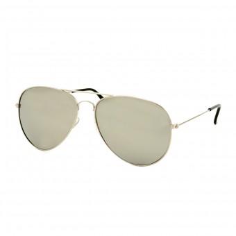 Aviator pilotenbril zilver - zilveren spiegel glas