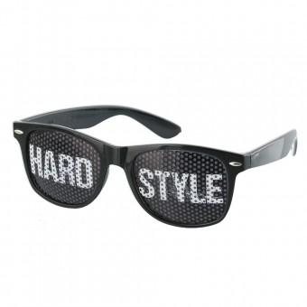 Pinhole zonnebril hardstyle zwart