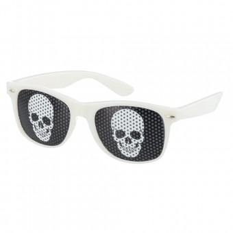 Pinhole zonnebril skull wit