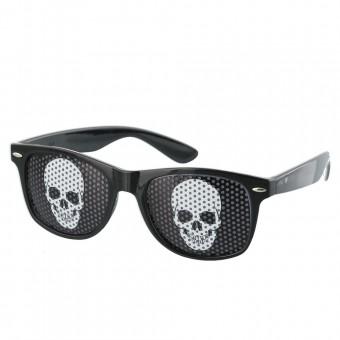 Pinhole zonnebril skull zwart