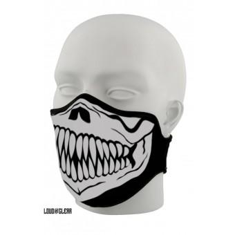 Skull skelet masker mondkapje zwart wit
