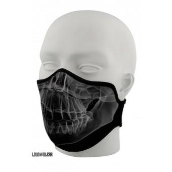 Skull Mondkapje Mondmasker Gezichtsmasker Wasbaar Met Print - Zwart Grijs