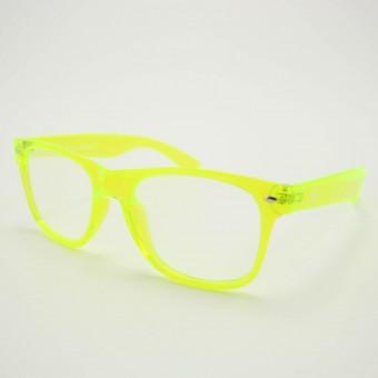 Spacebril transparant geel