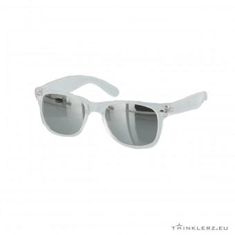 Wayfarer zonnebril transparant - zilveren spiegelglazen