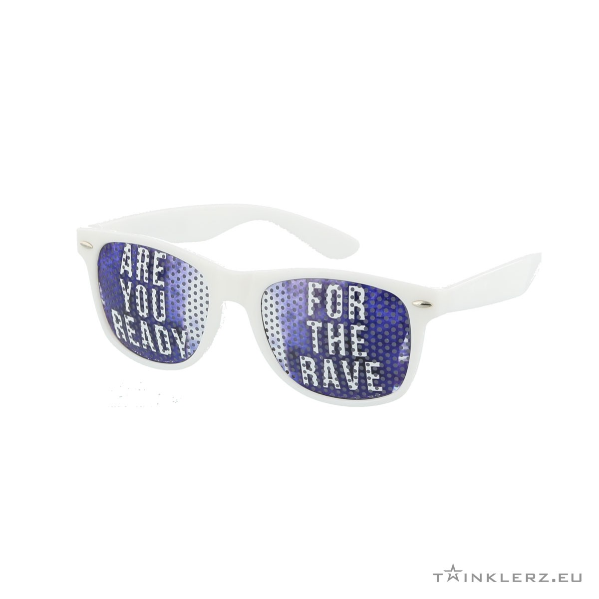 A-lusion pinhole sunglasses white - Are you ready for the Rave!