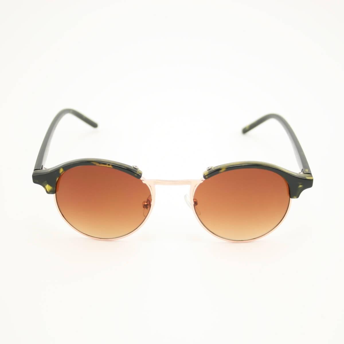 Clubround ronde zonnebril turtle - bruin getinte glazen