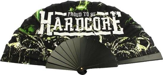 Proud to be hardcore hand fan black green