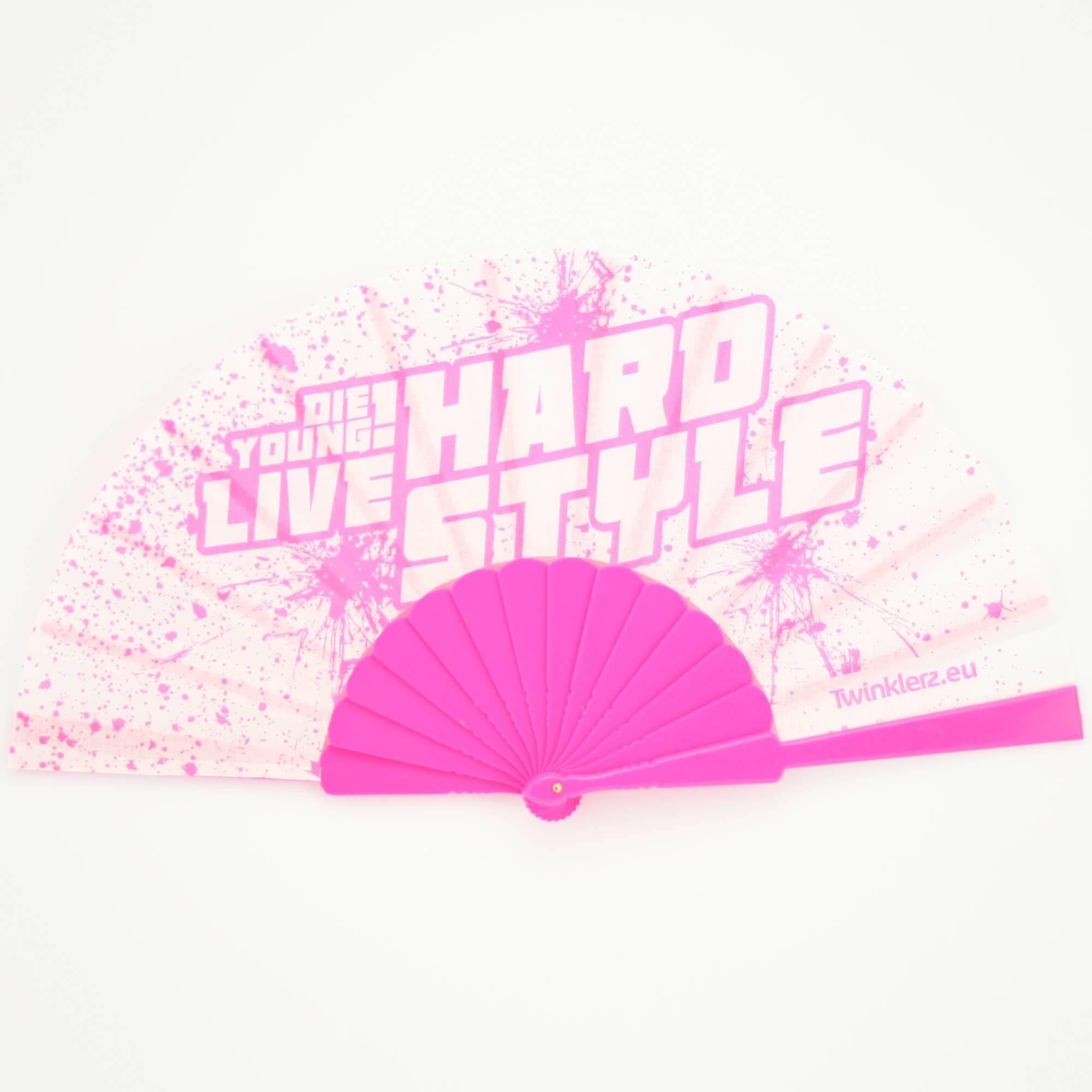 Hardstyle Hand Fan Pink