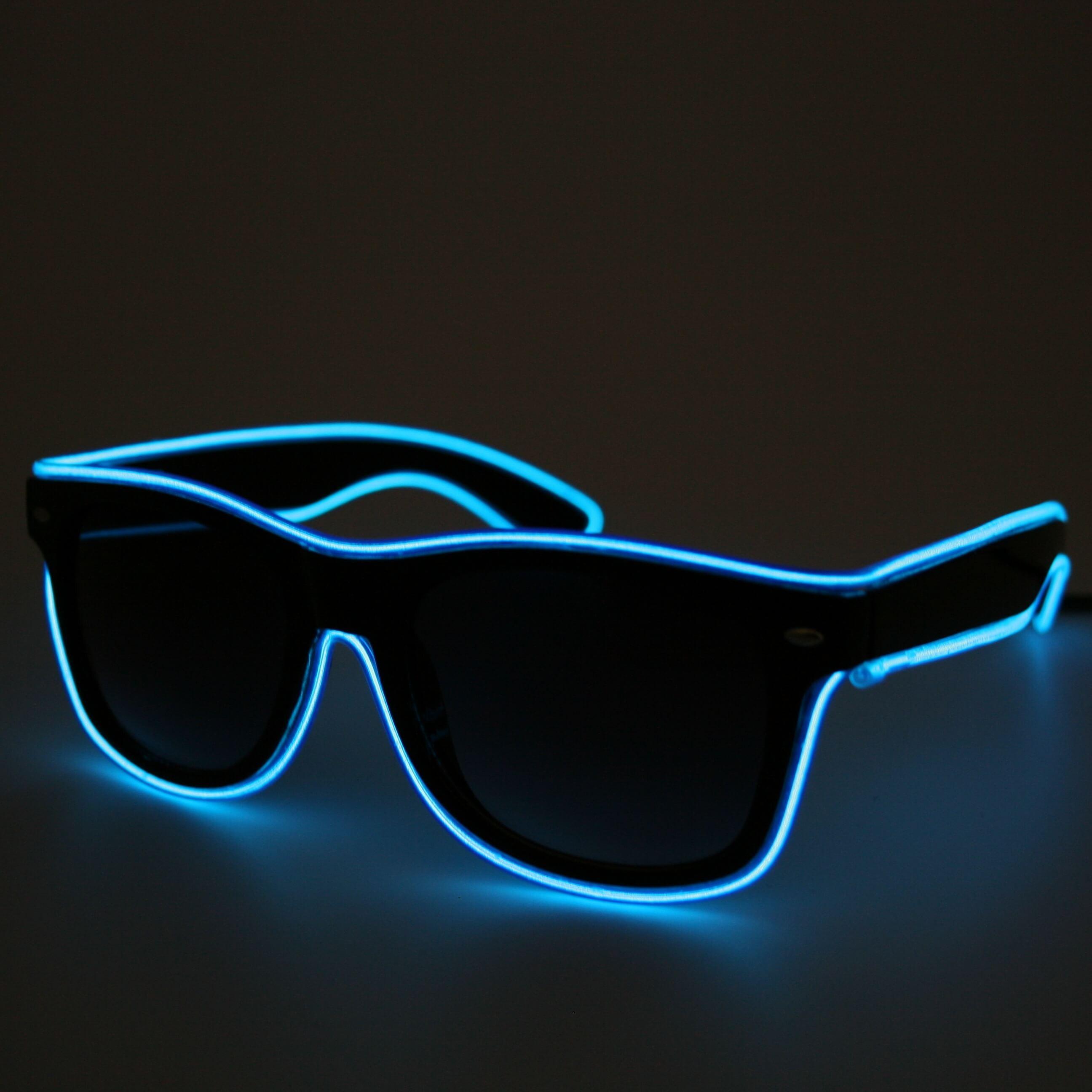 LED Neon Glasses Blue