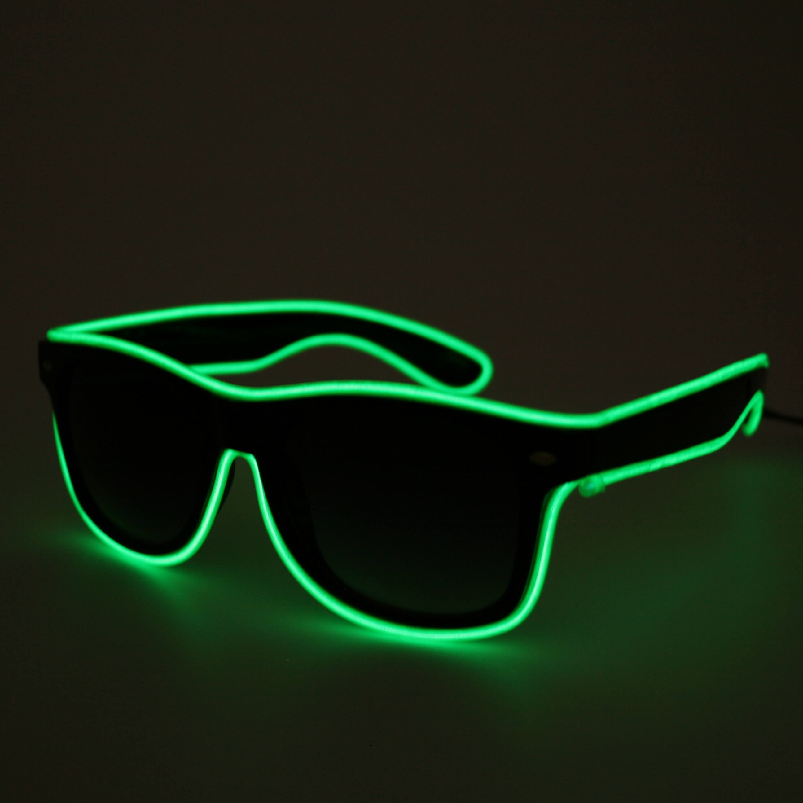 LED Neon Glasses Green
