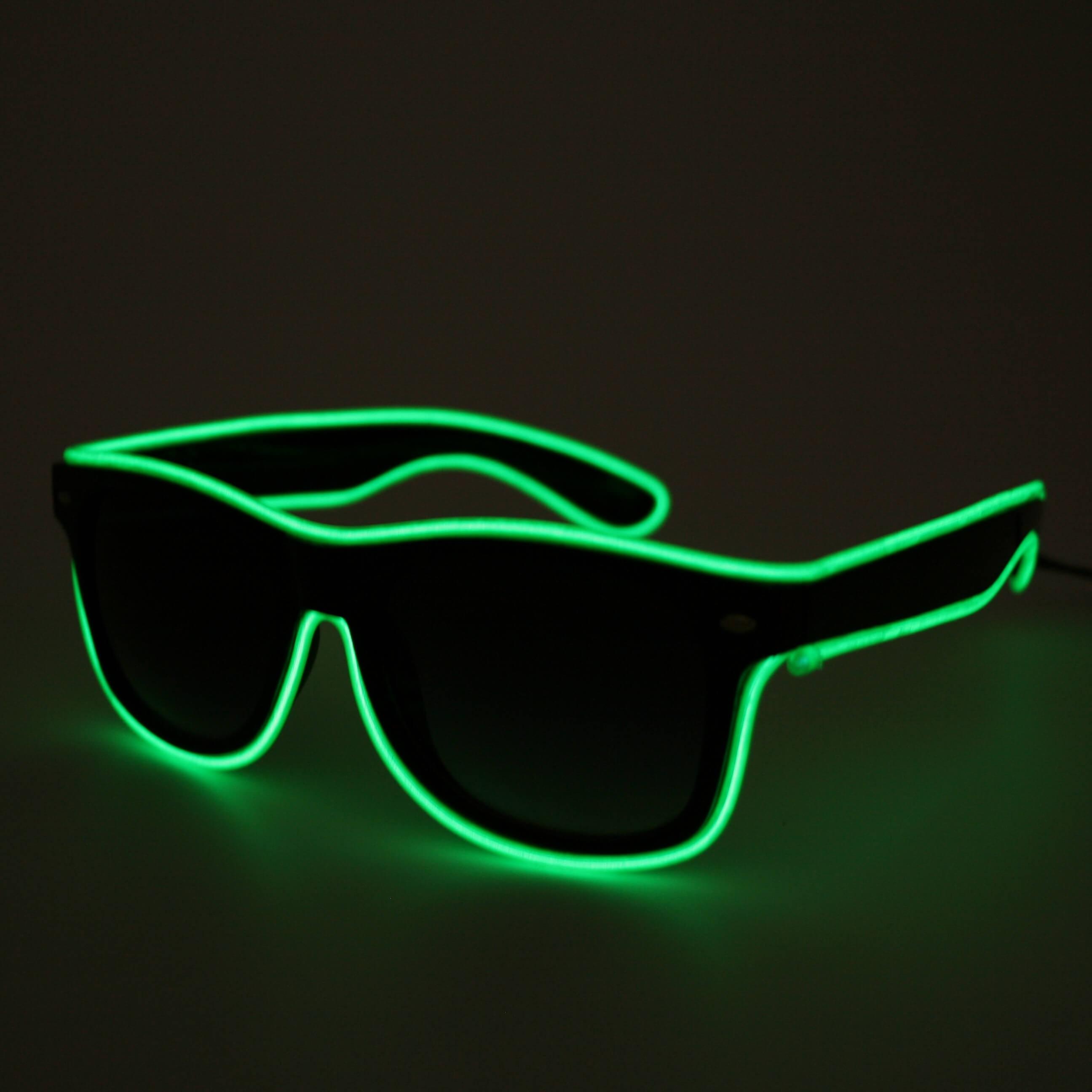 LED Neon Glasses Green