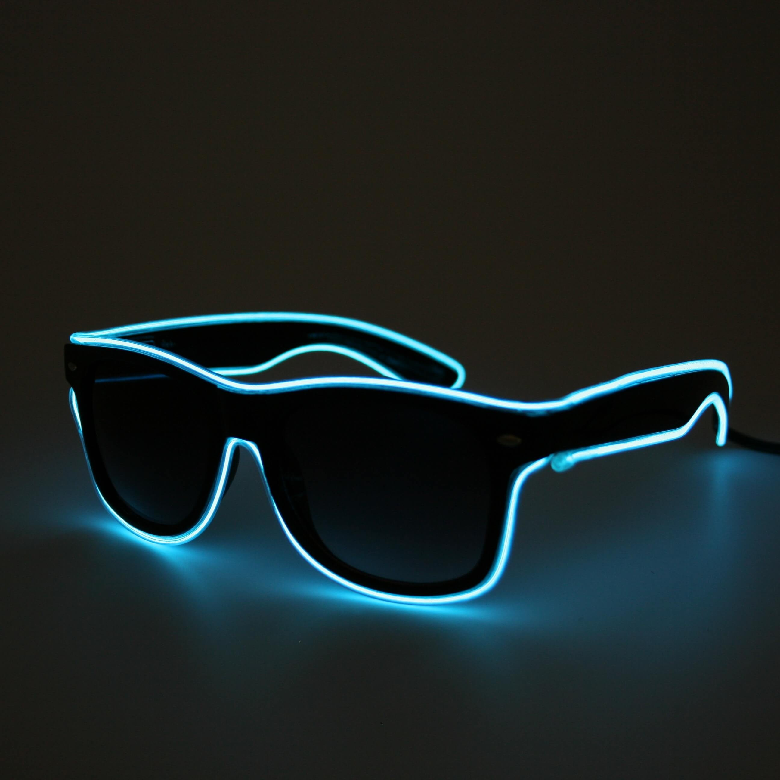 LED Neon Glasses Light Blue