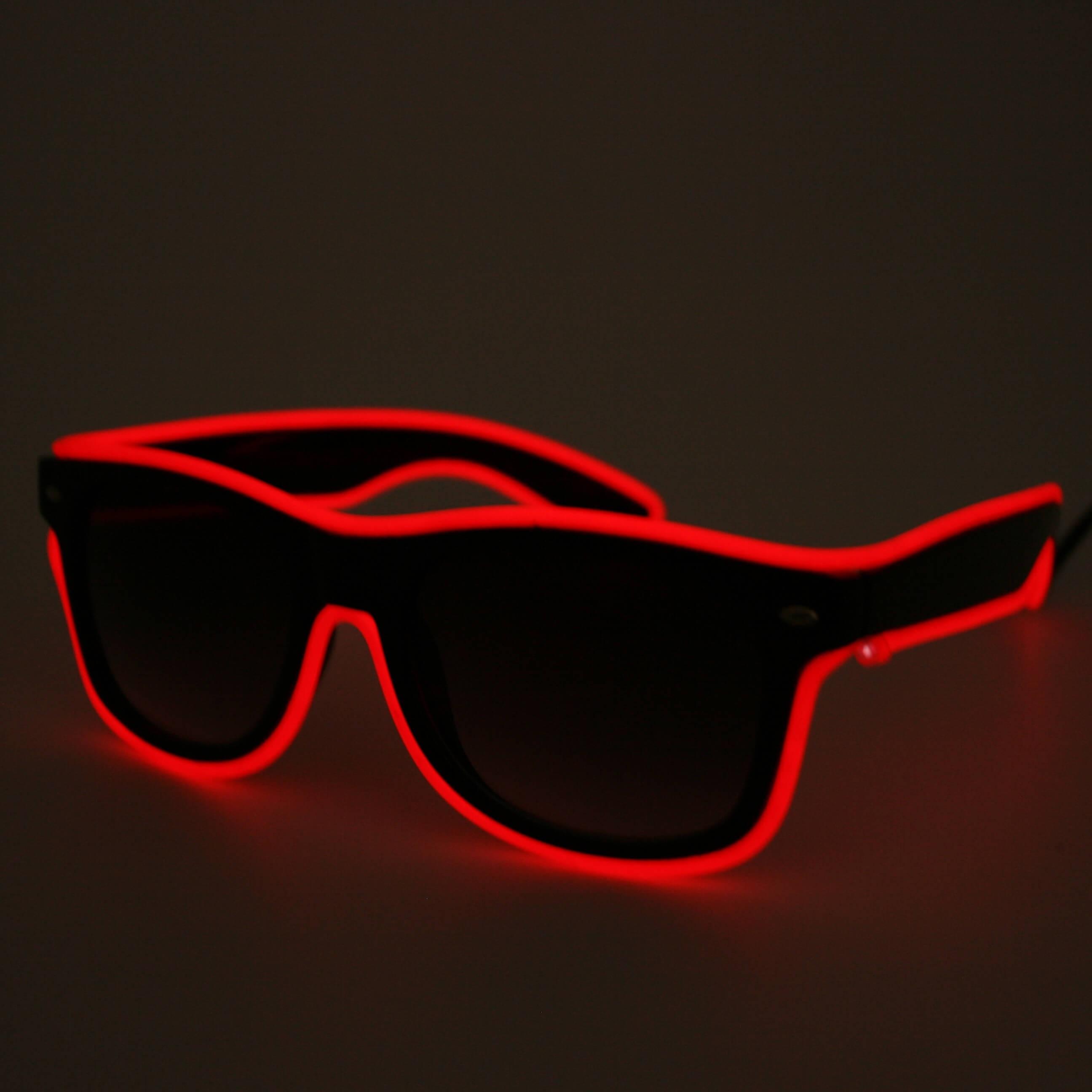 LED Neon Glasses Red