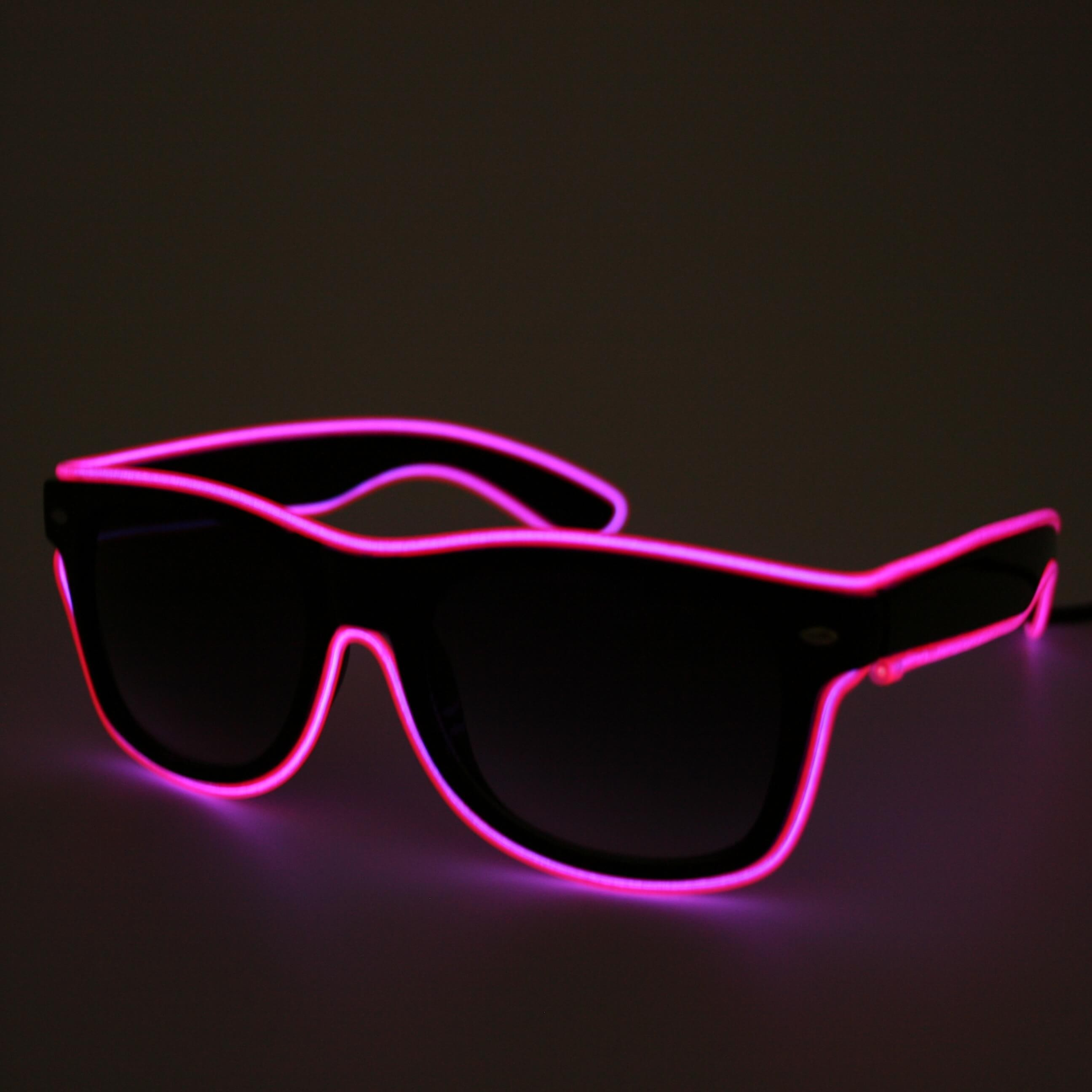 LED neon glasses pink