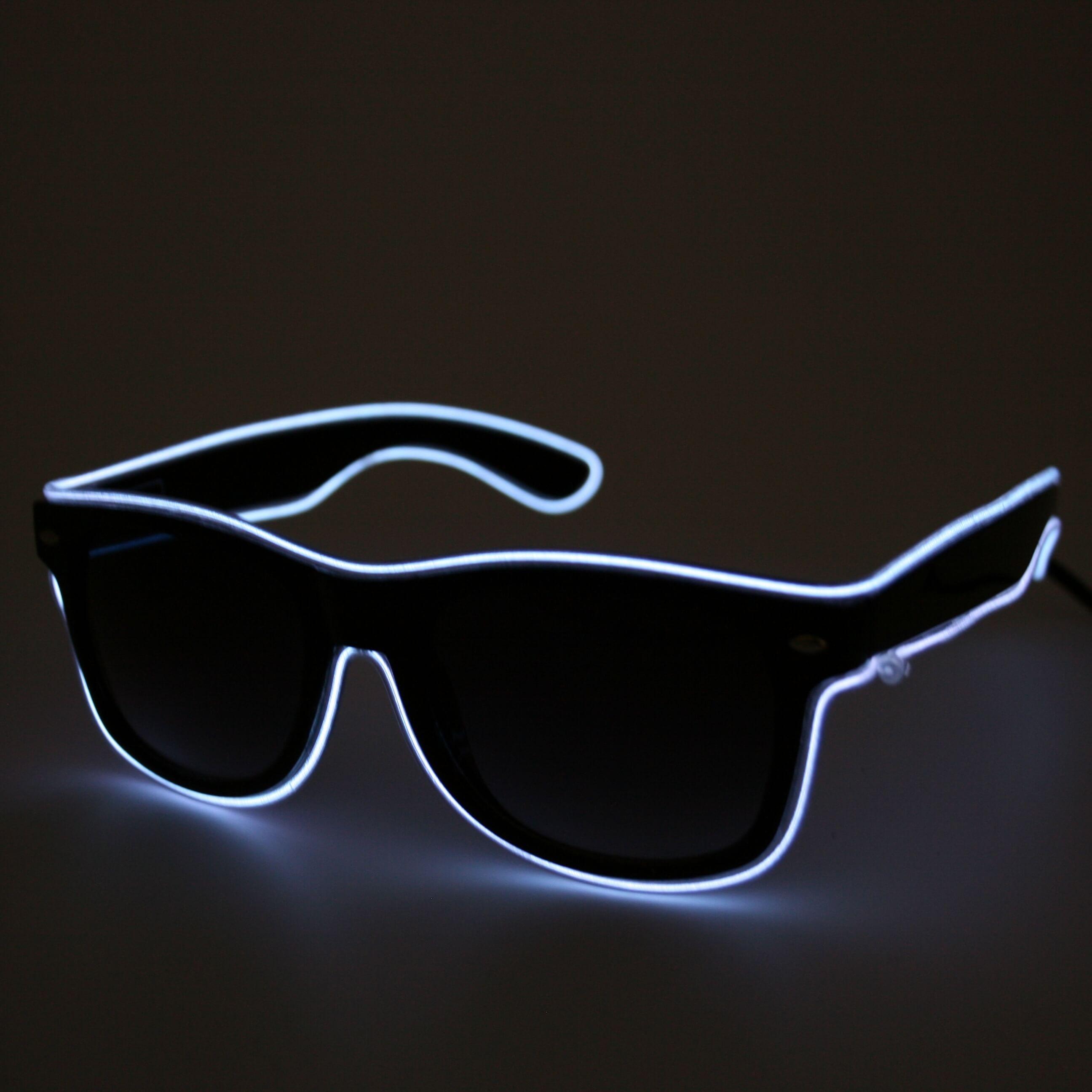 LED Glasses neon white
