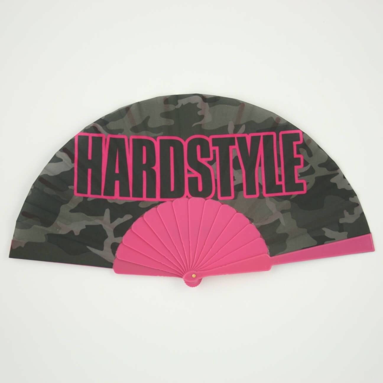 Hardstyle hand fan camo pink