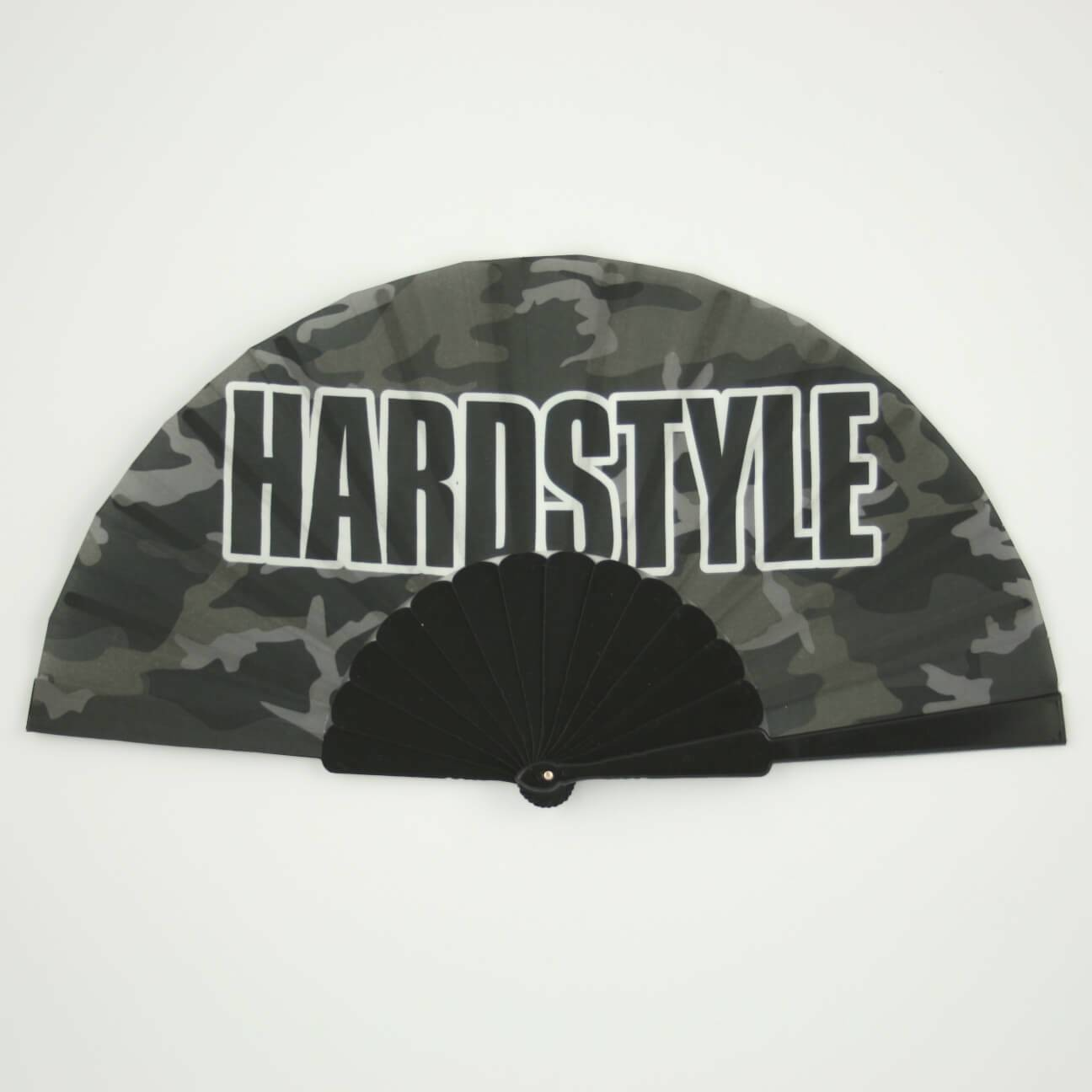 Hardstyle hand fan camo black