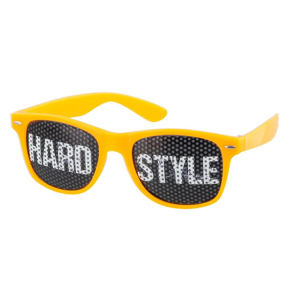 Orange Hardstyle Pinhole Sunglasses