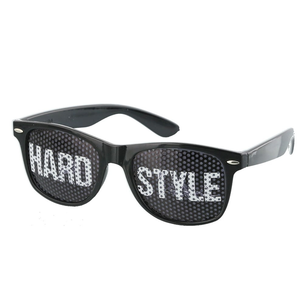Black Hardstyle Pinhole Sunglasses