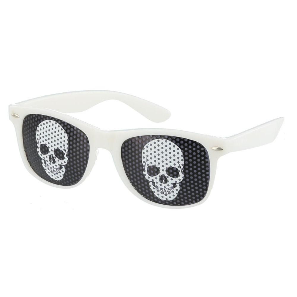 White Skull Pinhole Sunglasses