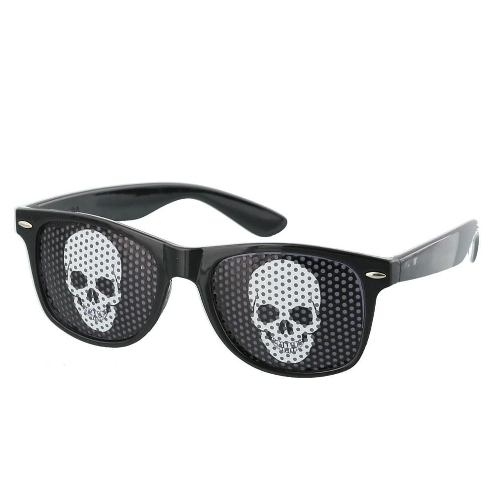Black Skull Pinhole Sunglasses