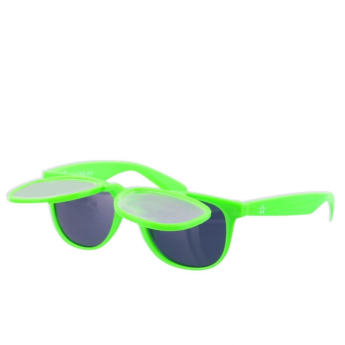 Twinklerz space zonnebril lichtgroen