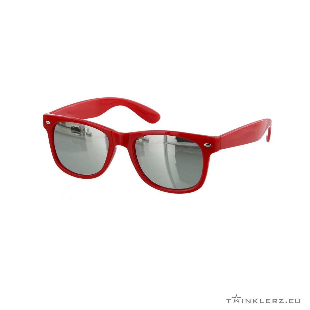 Silver mirrored red wayfarer sunglasses