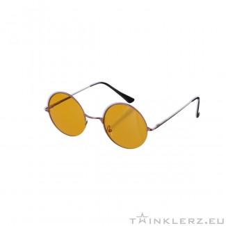 Small round golden sunglasses - yellow colored glasses