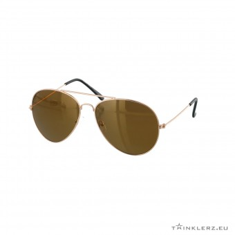 Brown gold aviator sunglasses