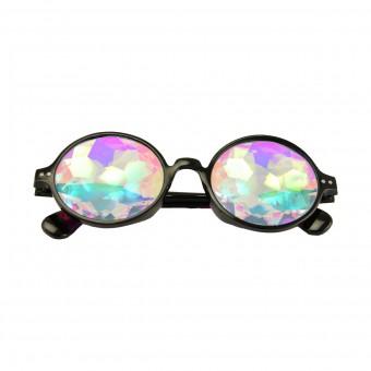 Kaleidoscope Glasses Round Black