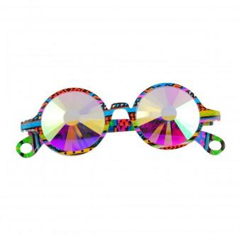 Caleidoscoop Bril Premium Wormhole Rond Multicolor