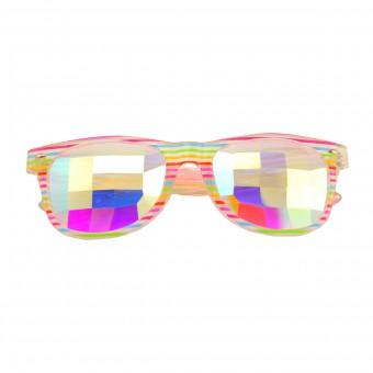 Caleidoscoop Bril Premium Wayfarer Rainbow
