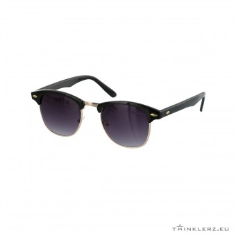 Black clubmaster classic sunglasses black lenses