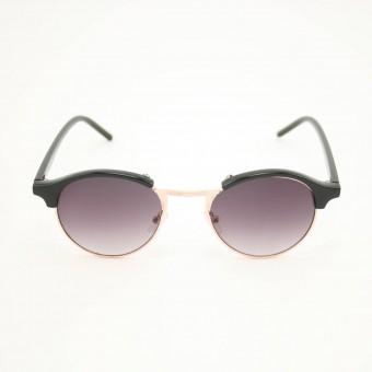 Clubround ronde zonnebril zwart - donker getinte glazen