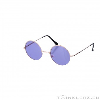 Small round golden sunglasses - purple colored glasses
