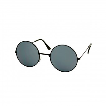 Small round black sunglasses - black tinted glass