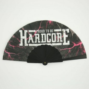 Proud to be hardcore hand fan magenta pink