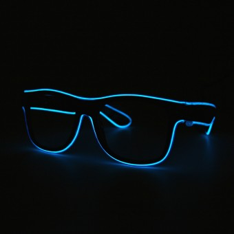 LED Neon Glasses Blue Transparent Glasses