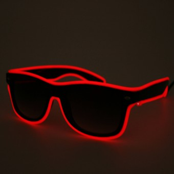 LED Neon Glasses Red