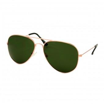 aviator sunglasses gold - dark green tinted glasses