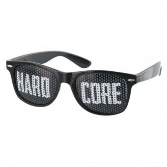 Black hardcore pinhole sunglasses